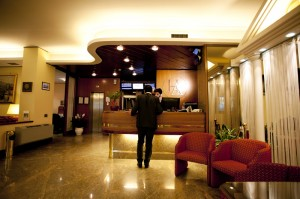 The reception of Augustus Hotel near Napoli - Ottaviano (NA)